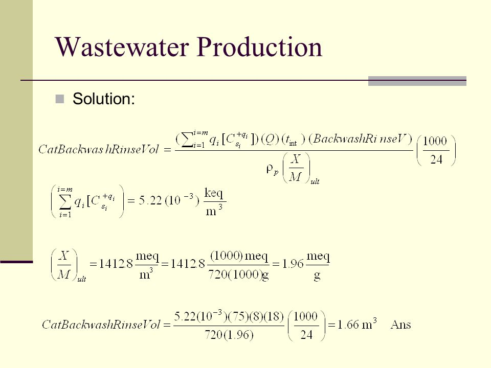Wastewater Production