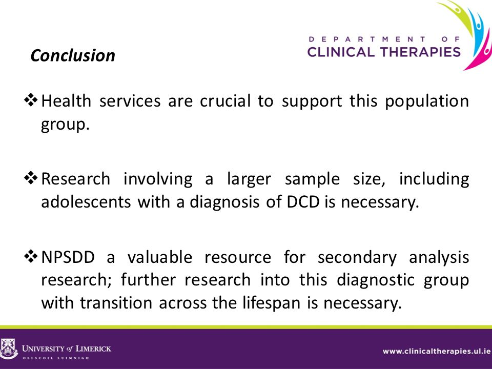 Conclusion Health services are crucial to support this population group.
