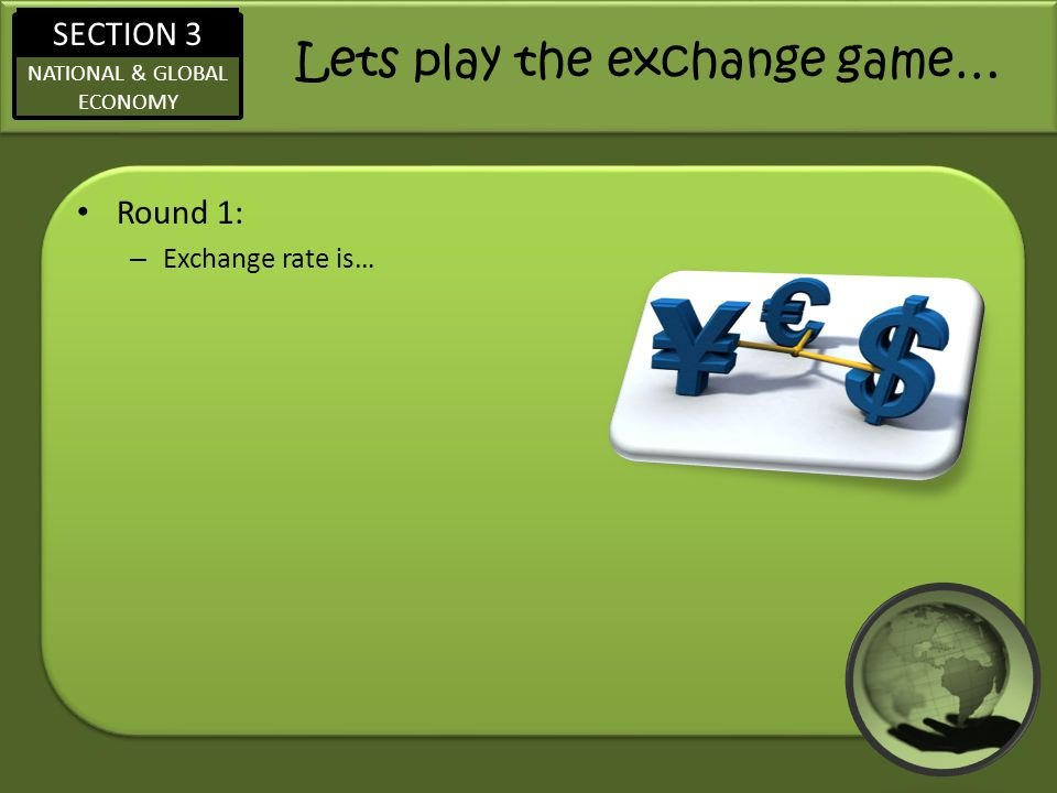 Lets play the exchange game…