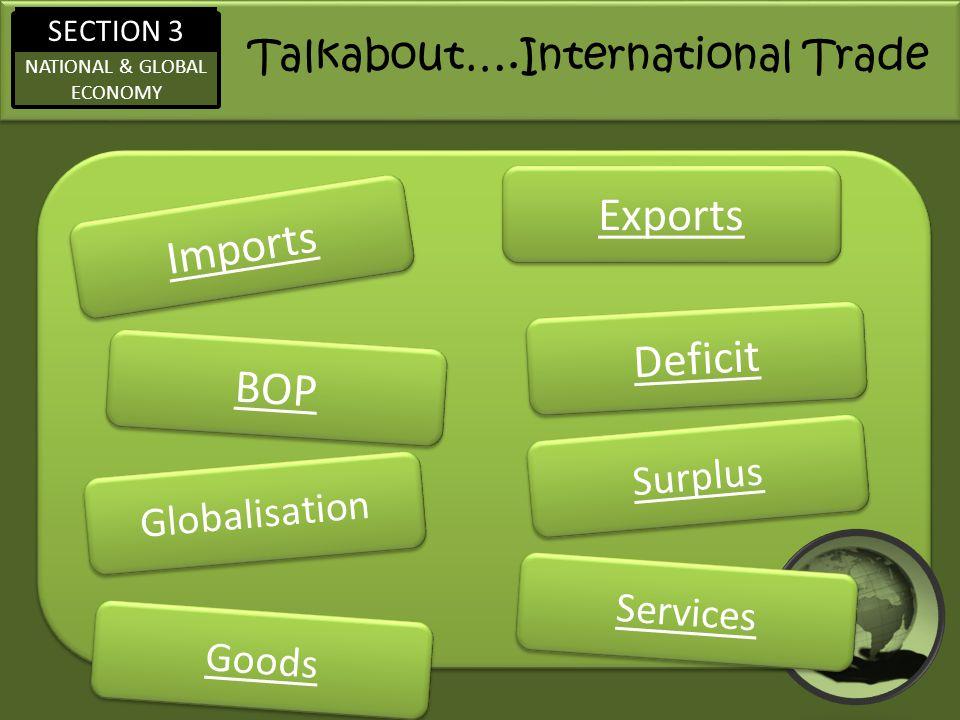 Talkabout….International Trade