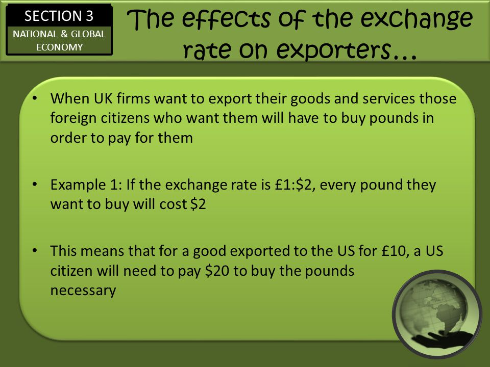 The effects of the exchange rate on exporters…