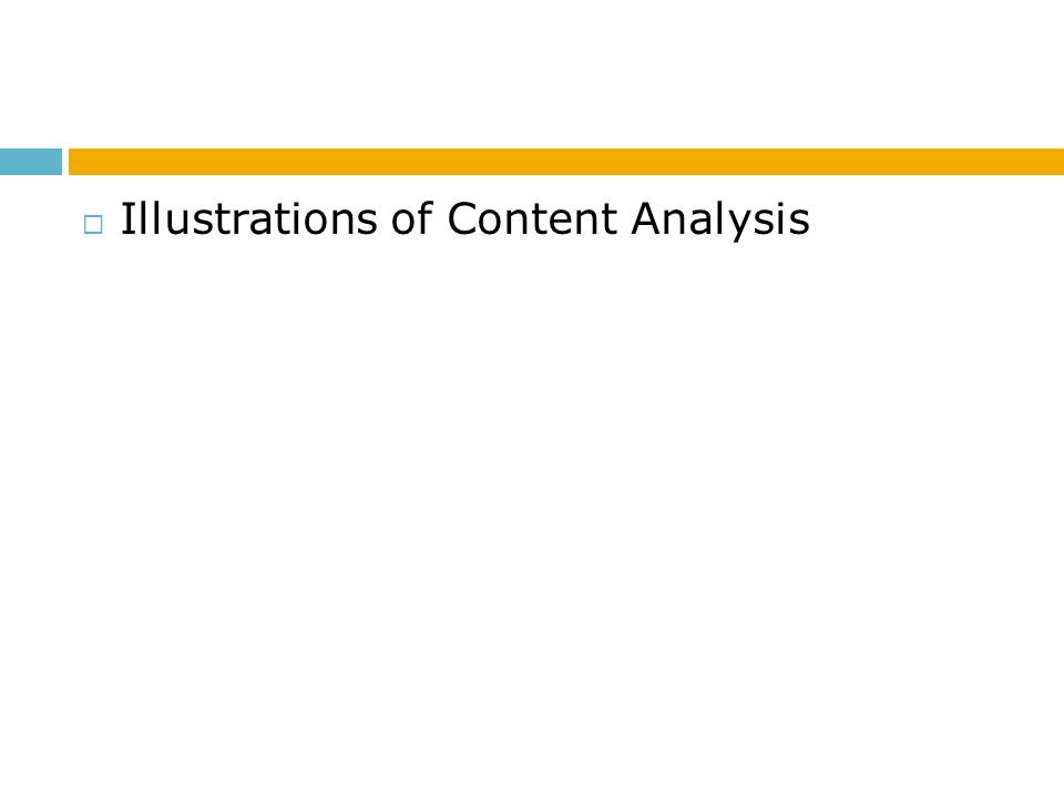 Illustrations of Content Analysis