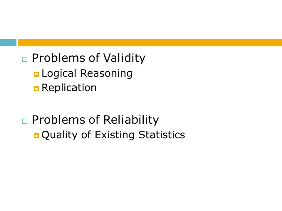 Problems of Reliability