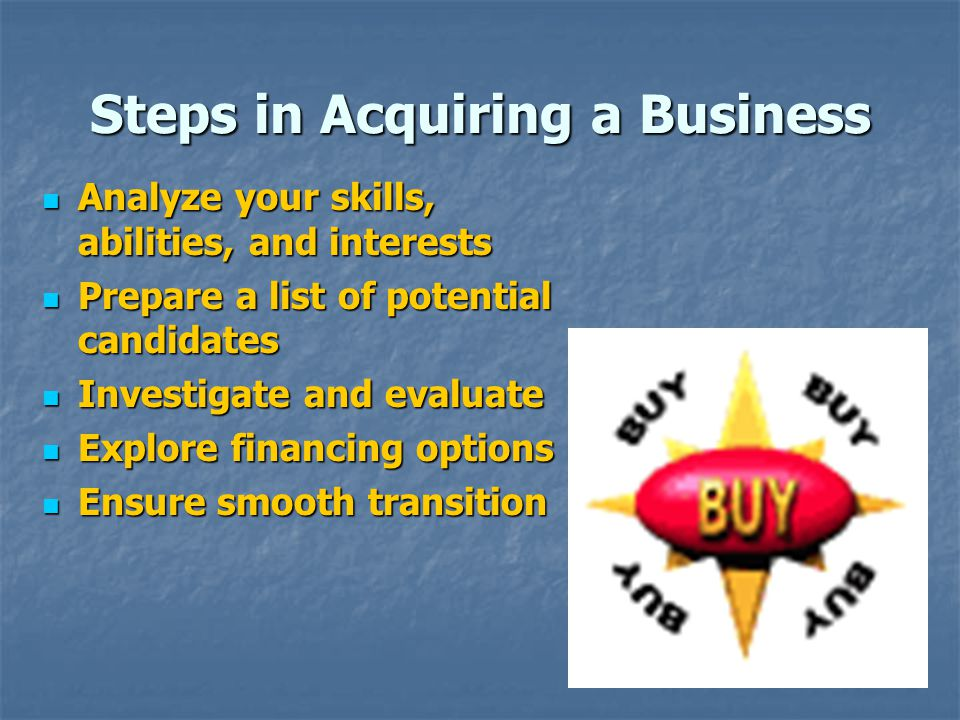 Steps in Acquiring a Business