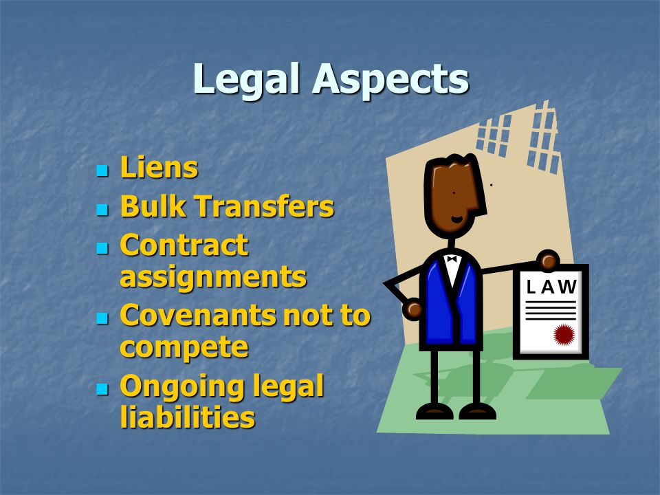 Legal Aspects Liens Bulk Transfers Contract assignments