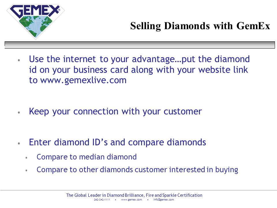Selling Diamonds with GemEx