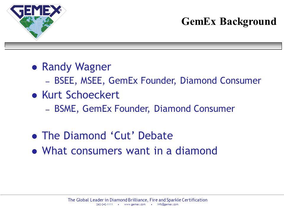 The Diamond 'Cut' Debate What consumers want in a diamond