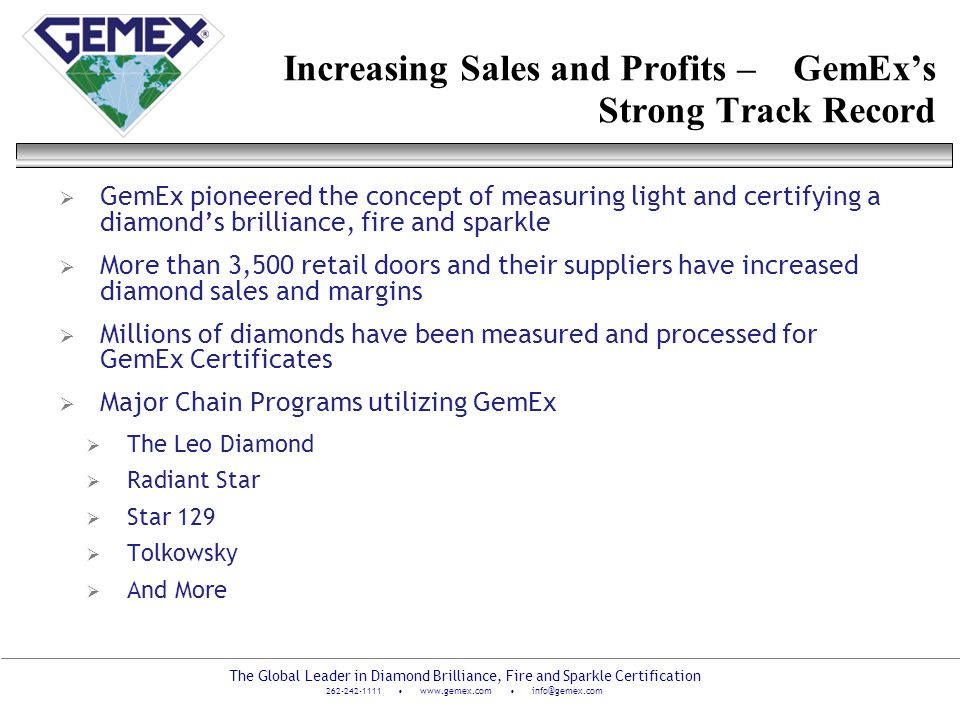 Increasing Sales and Profits – GemEx's Strong Track Record