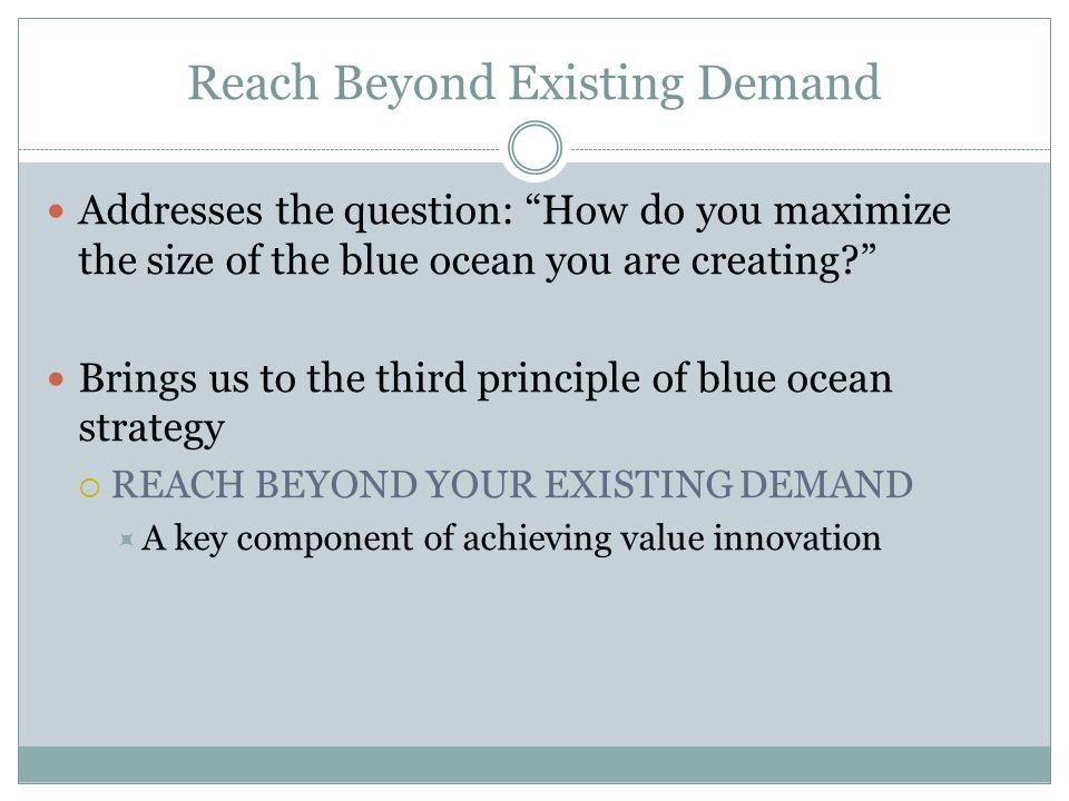 Reach Beyond Existing Demand