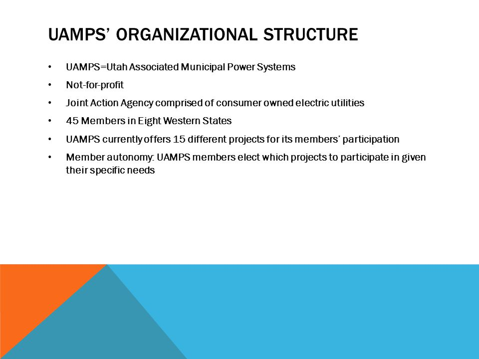 UAMPS' Organizational Structure
