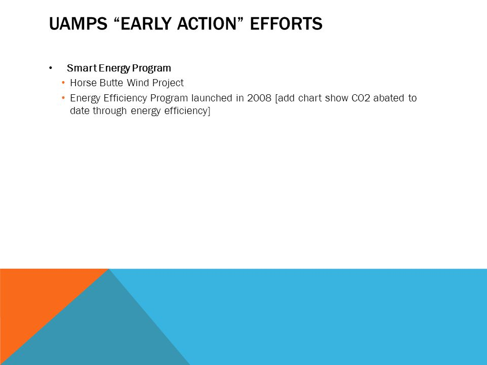 UAMPS Early Action Efforts
