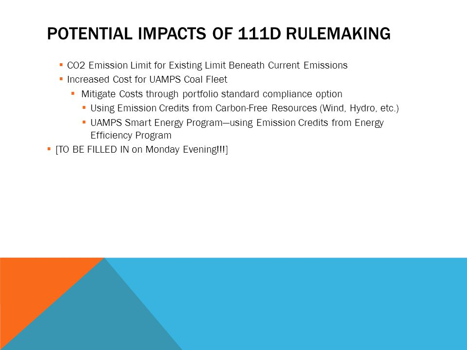 Potential Impacts of 111d Rulemaking