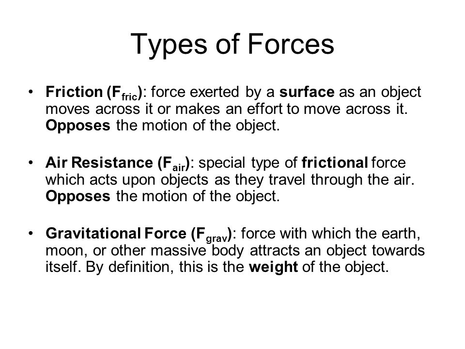 Types of Forces