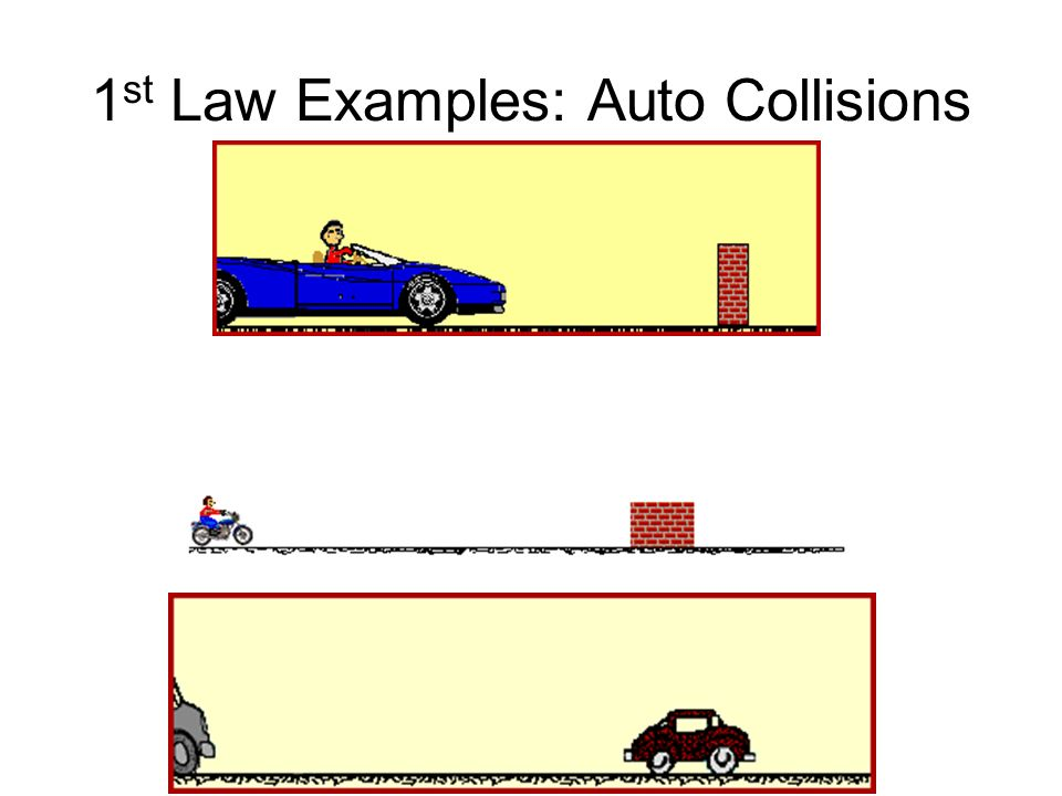 1st Law Examples: Auto Collisions