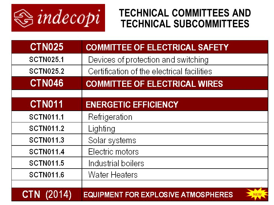 TECHNICAL COMMITTEES AND TECHNICAL SUBCOMMITTEES