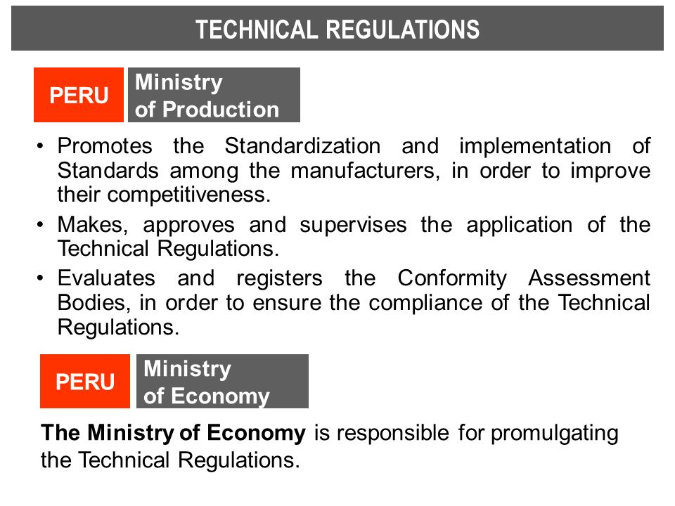 TECHNICAL REGULATIONS