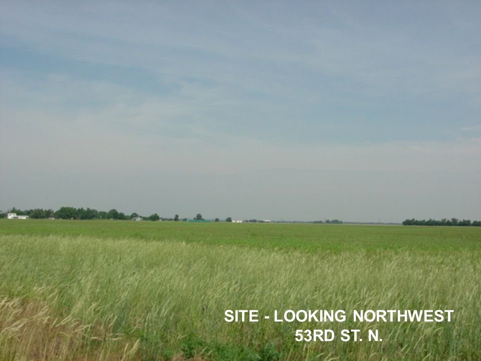 SITE - LOOKING NORTHWEST