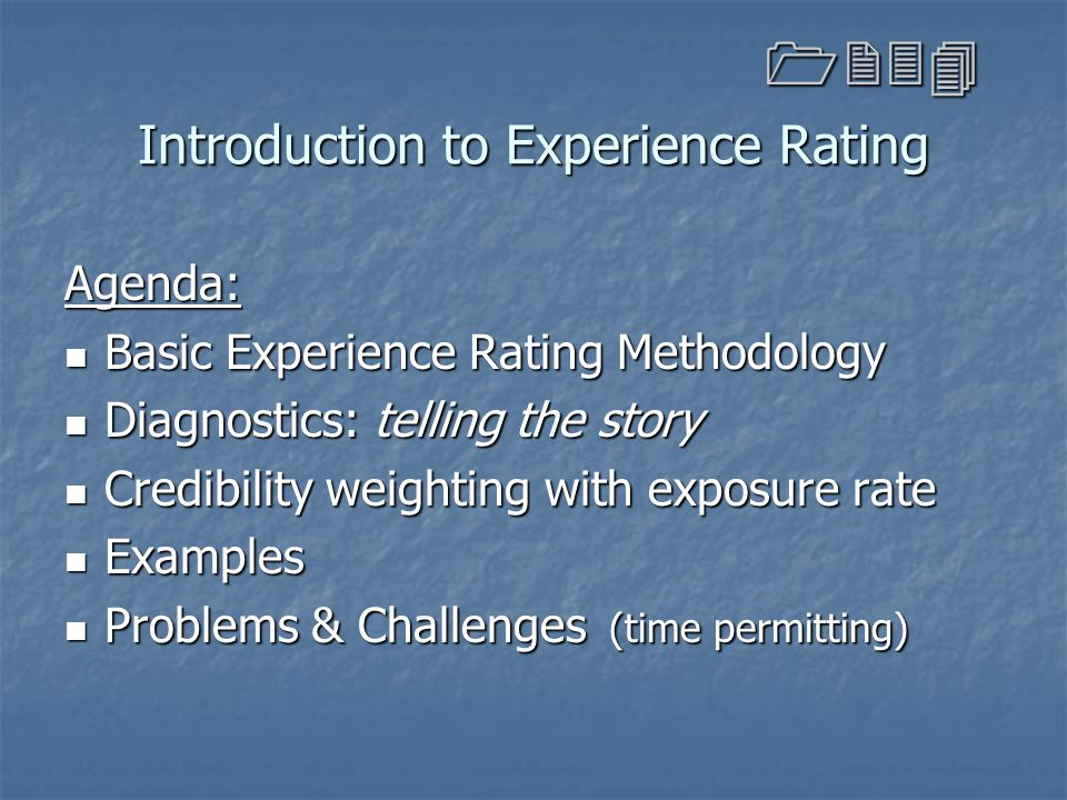 Introduction to Experience Rating