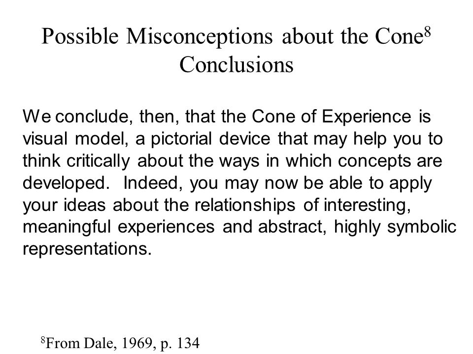 Possible Misconceptions about the Cone8 Conclusions