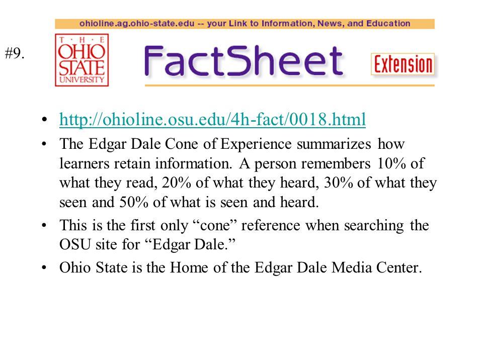 http://ohioline.osu.edu/4h-fact/0018.html #9.