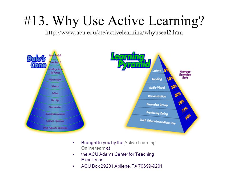 #13. Why Use Active Learning. http://www. acu