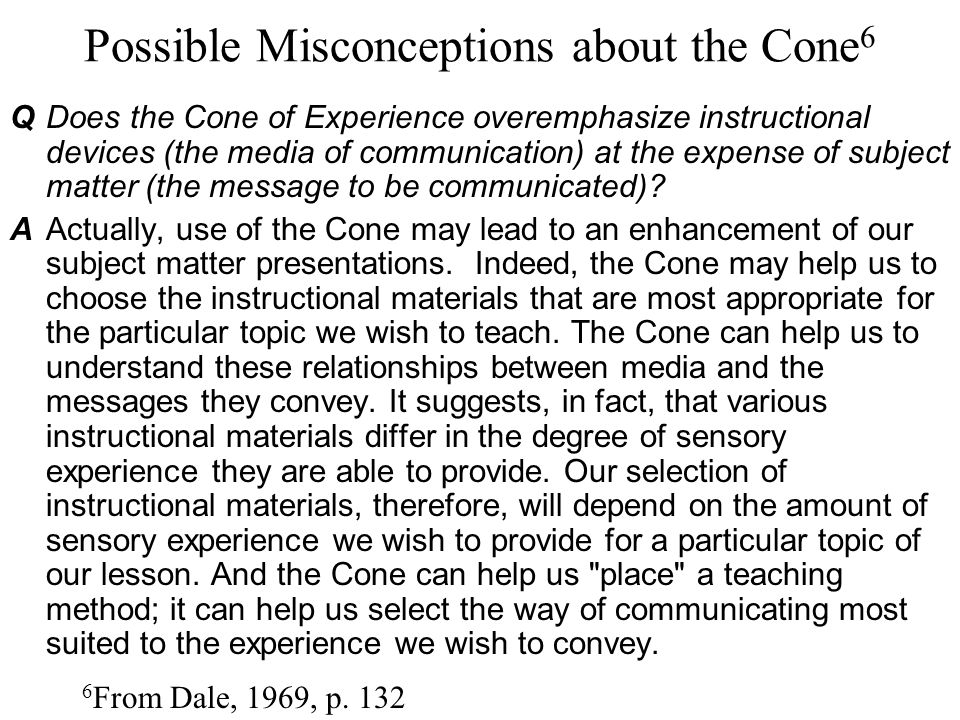 Possible Misconceptions about the Cone6