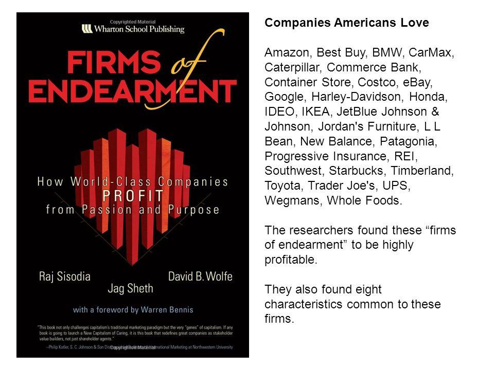 Companies Americans Love