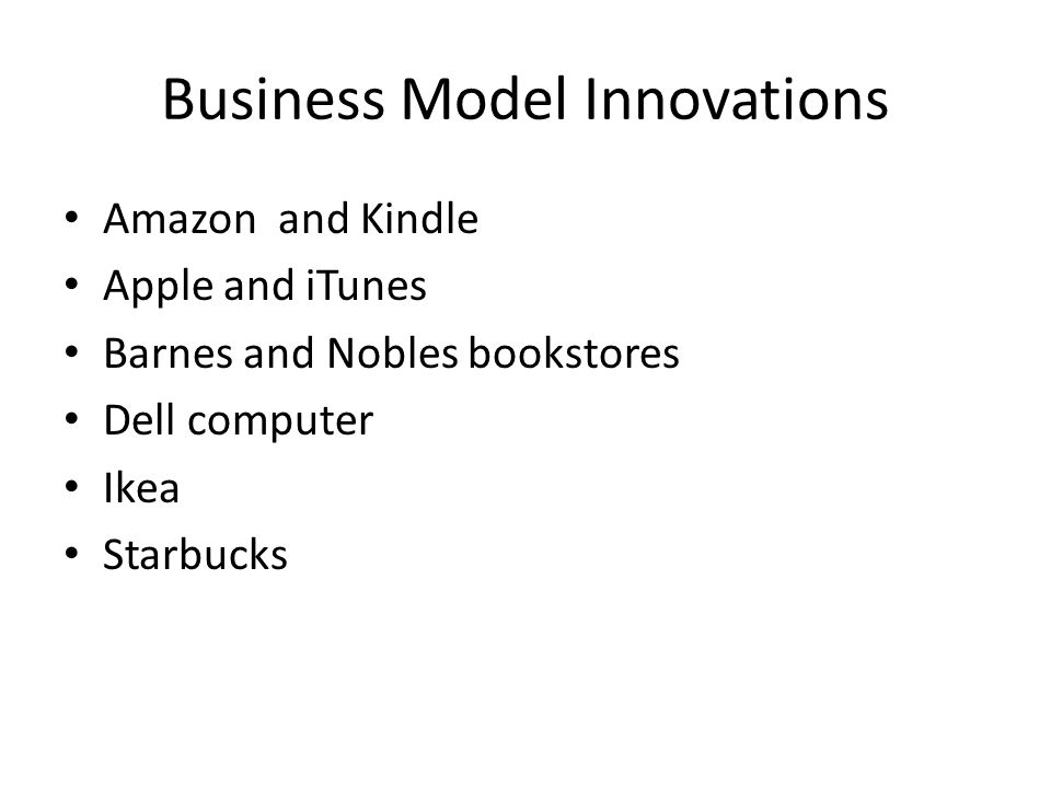 Business Model Innovations