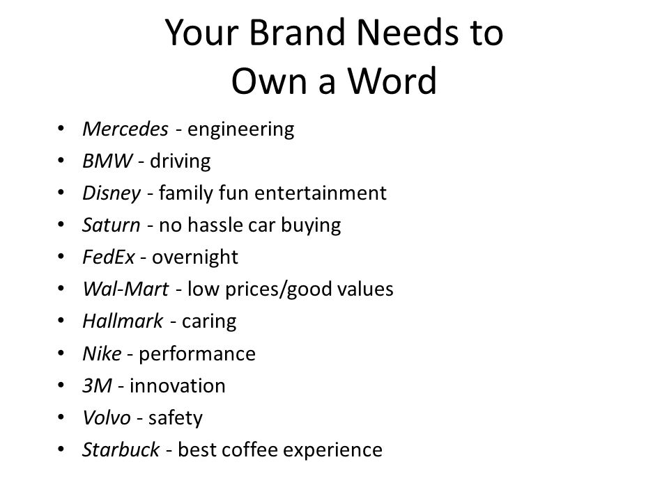 Your Brand Needs to Own a Word
