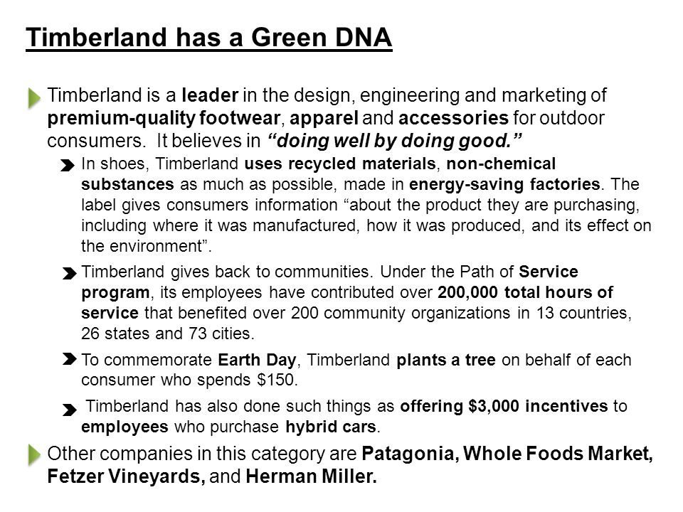 Timberland has a Green DNA