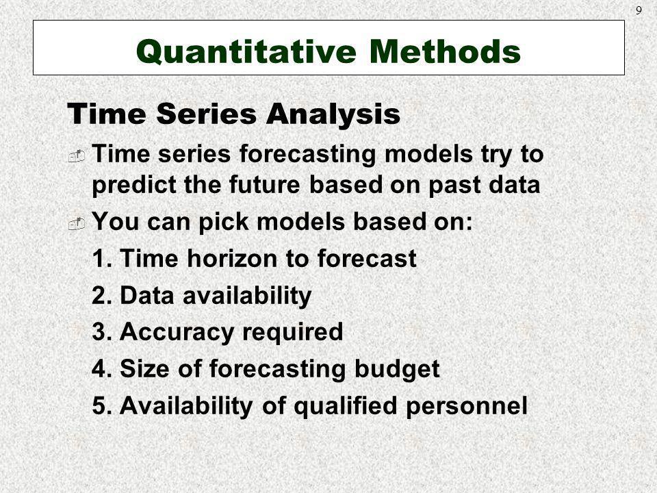 Quantitative Methods Time Series Analysis