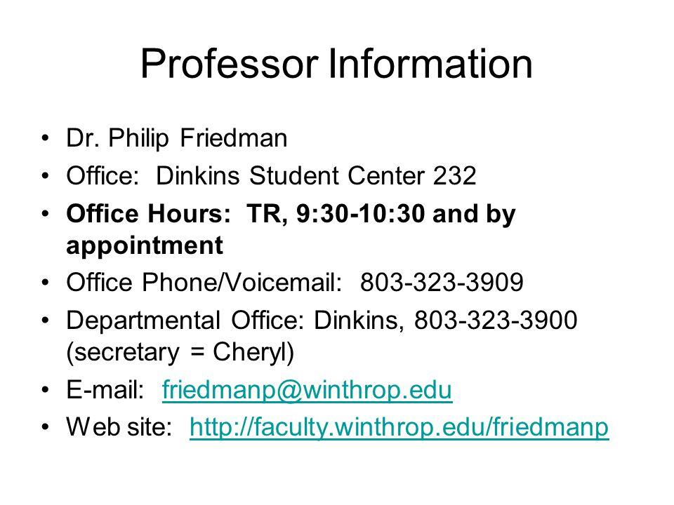 Professor Information