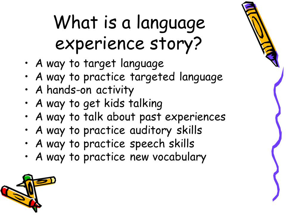 What is a language experience story