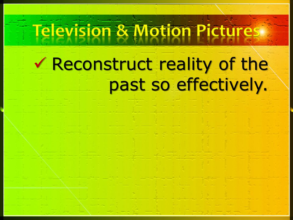 Television & Motion Pictures