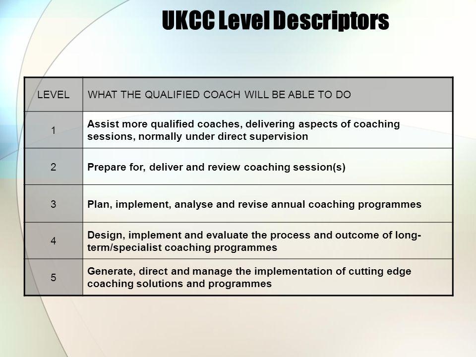 UKCC Level Descriptors