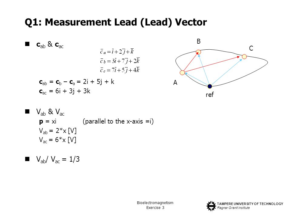 Q1: Measurement Lead (Lead) Vector