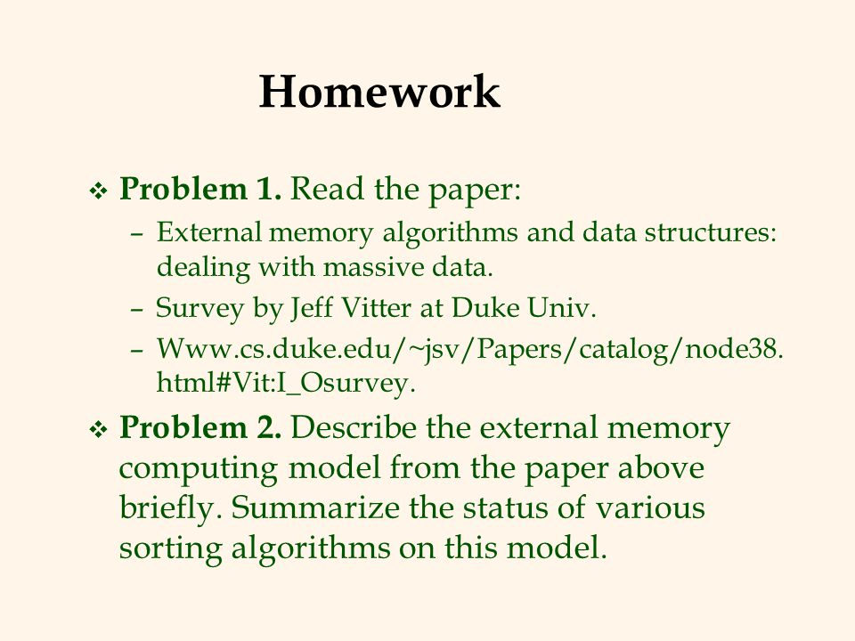 Homework Problem 1. Read the paper: