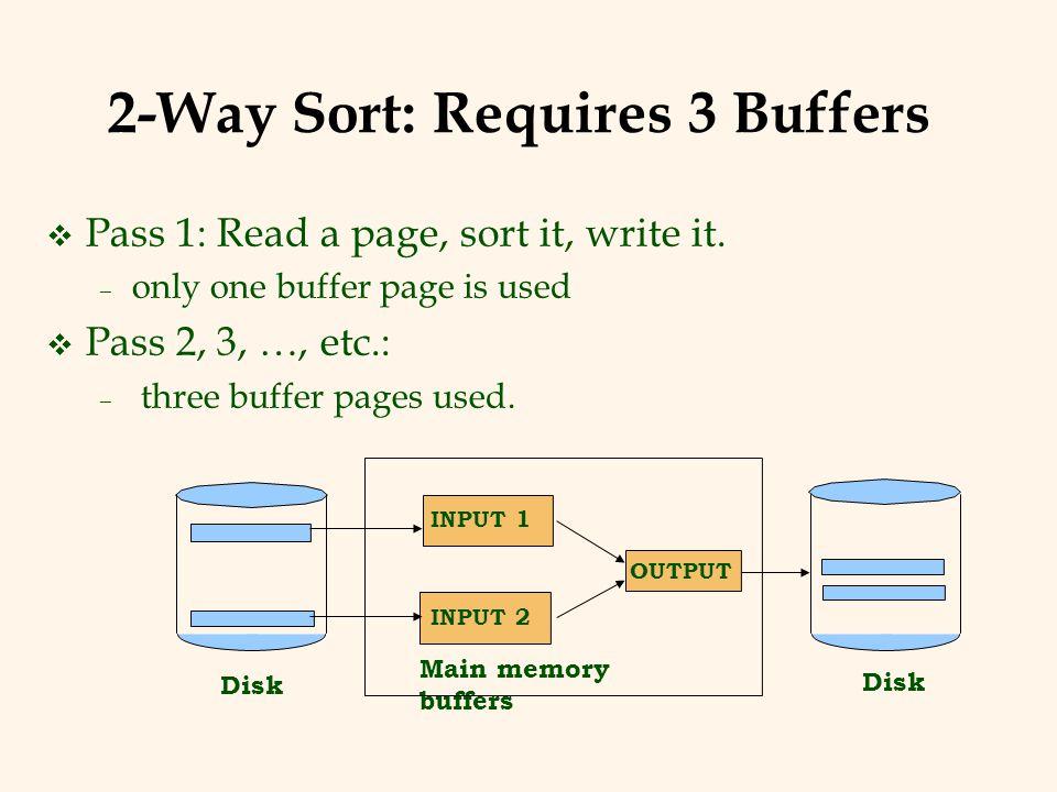 2-Way Sort: Requires 3 Buffers