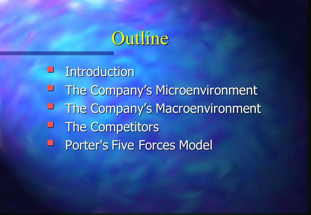 Outline Introduction The Company's Microenvironment
