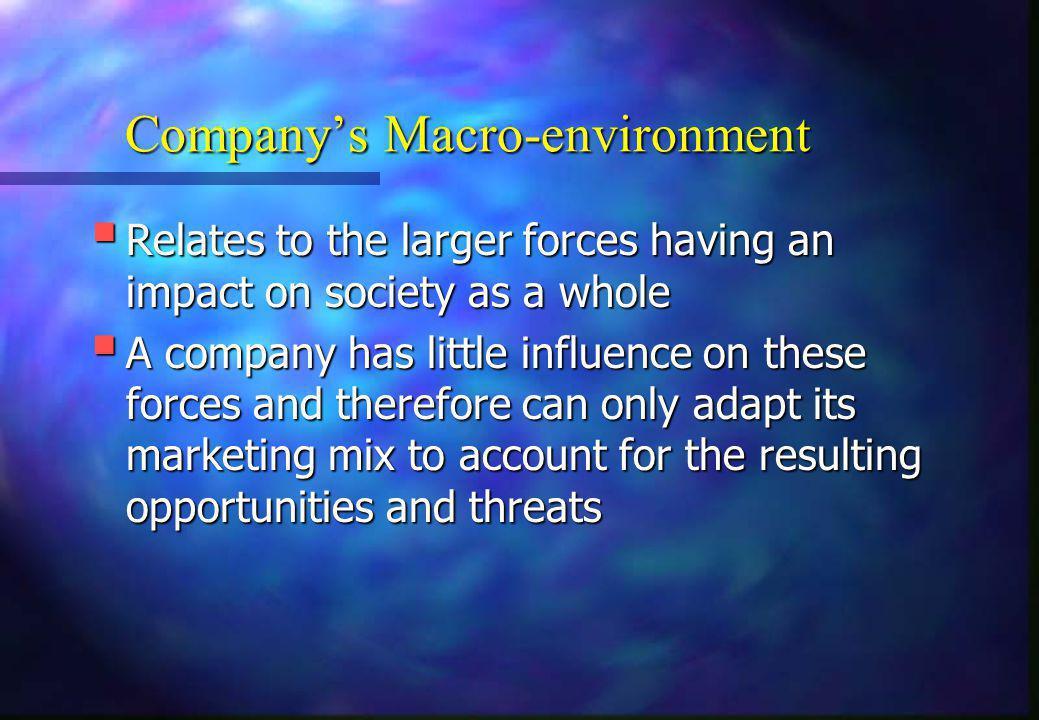 Company's Macro-environment