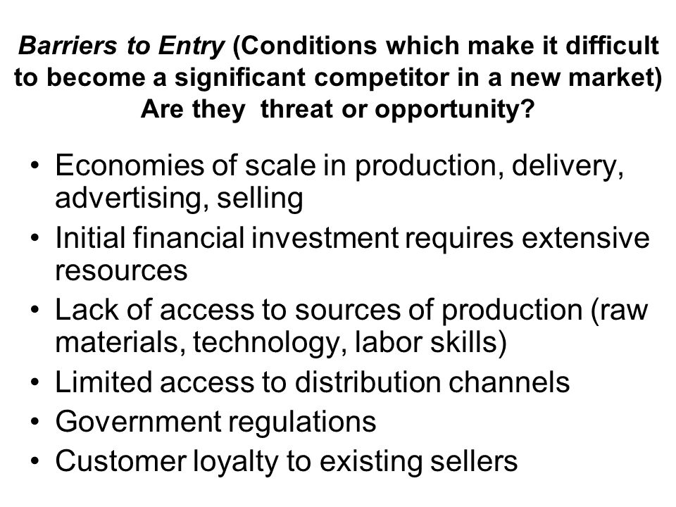 Economies of scale in production, delivery, advertising, selling