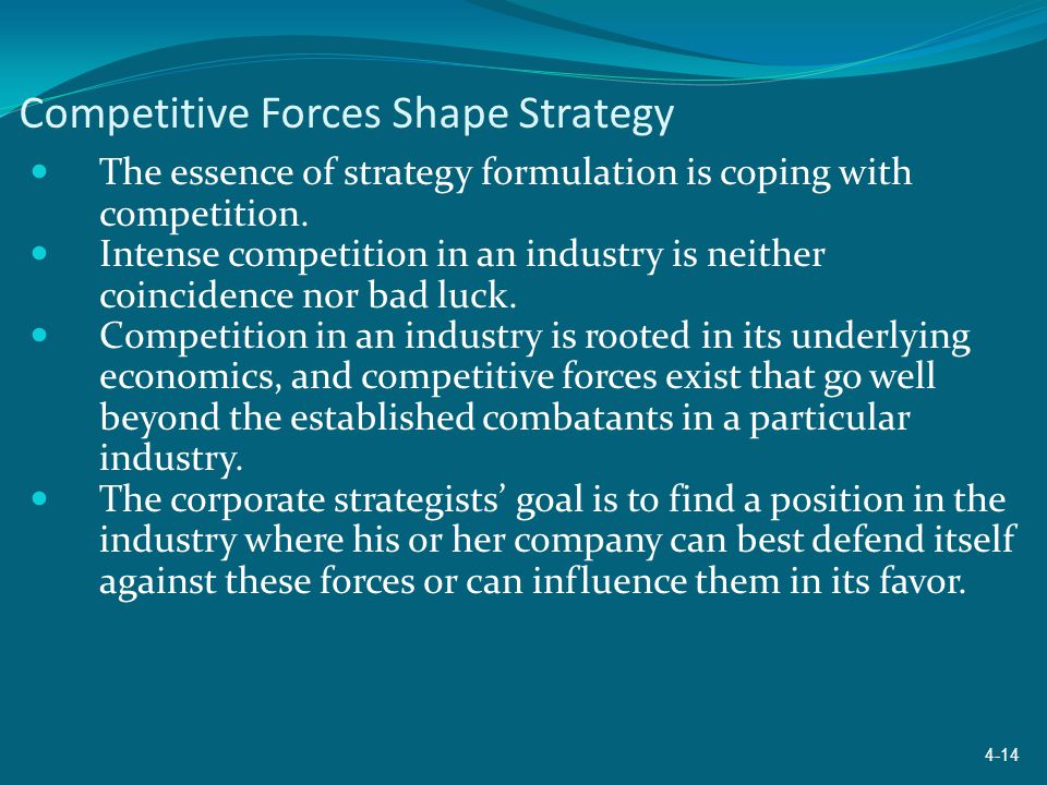 Competitive Forces Shape Strategy