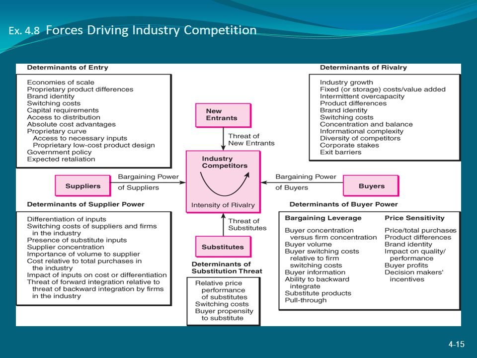 Ex. 4.8 Forces Driving Industry Competition