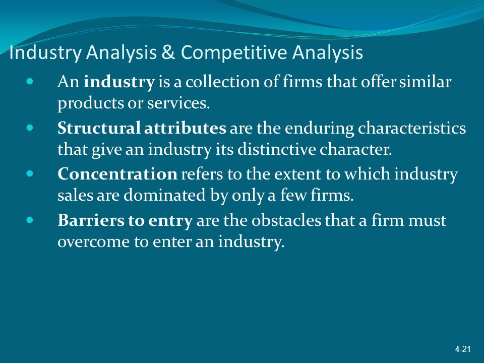 Industry Analysis & Competitive Analysis