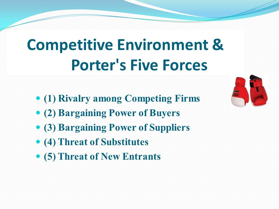 Competitive Environment & Porter s Five Forces