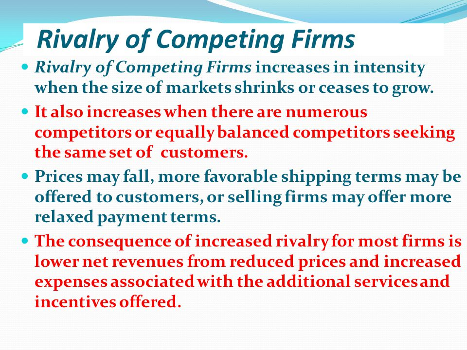 Rivalry of Competing Firms