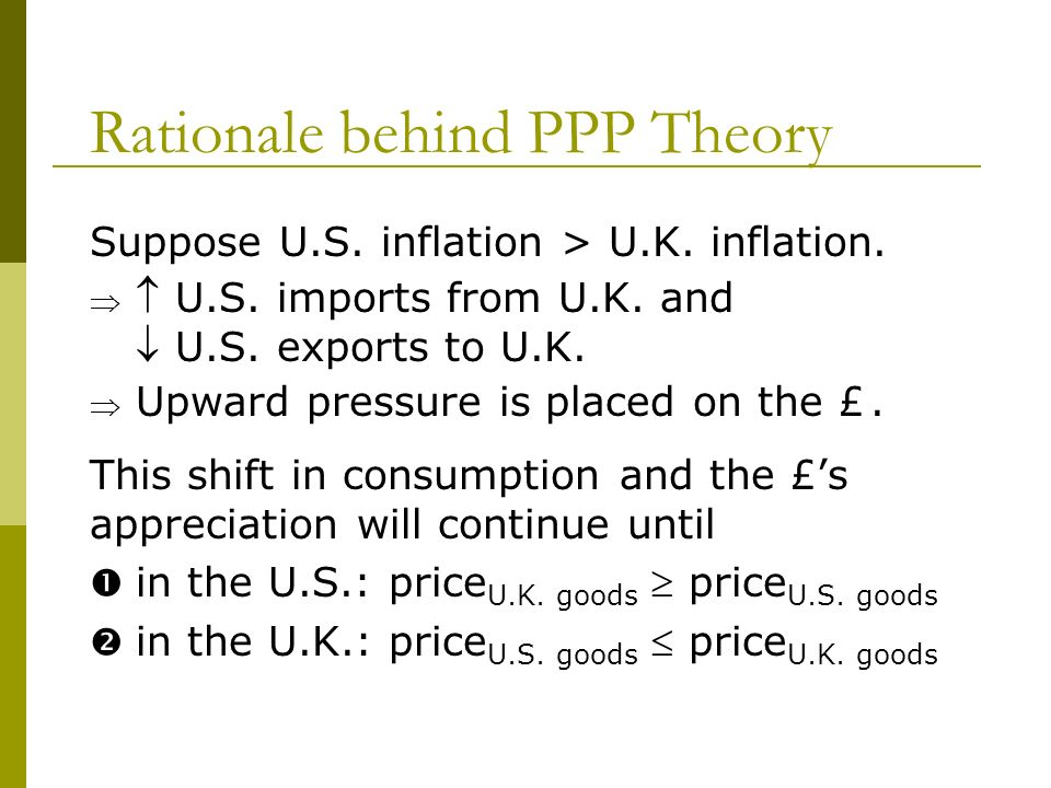 Rationale behind PPP Theory