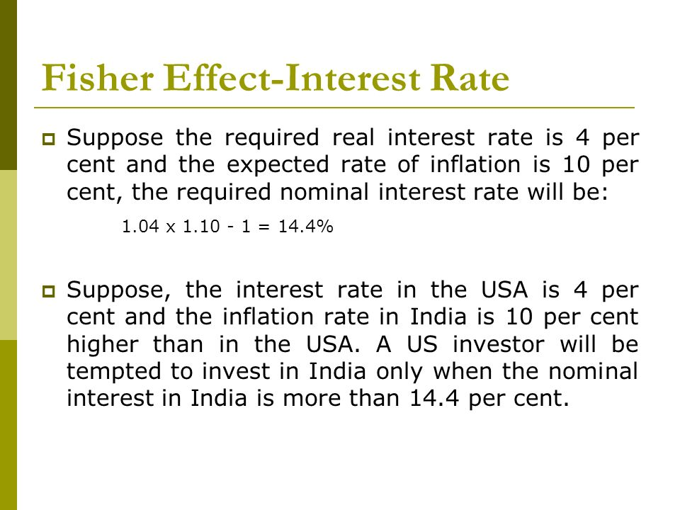 Fisher Effect-Interest Rate