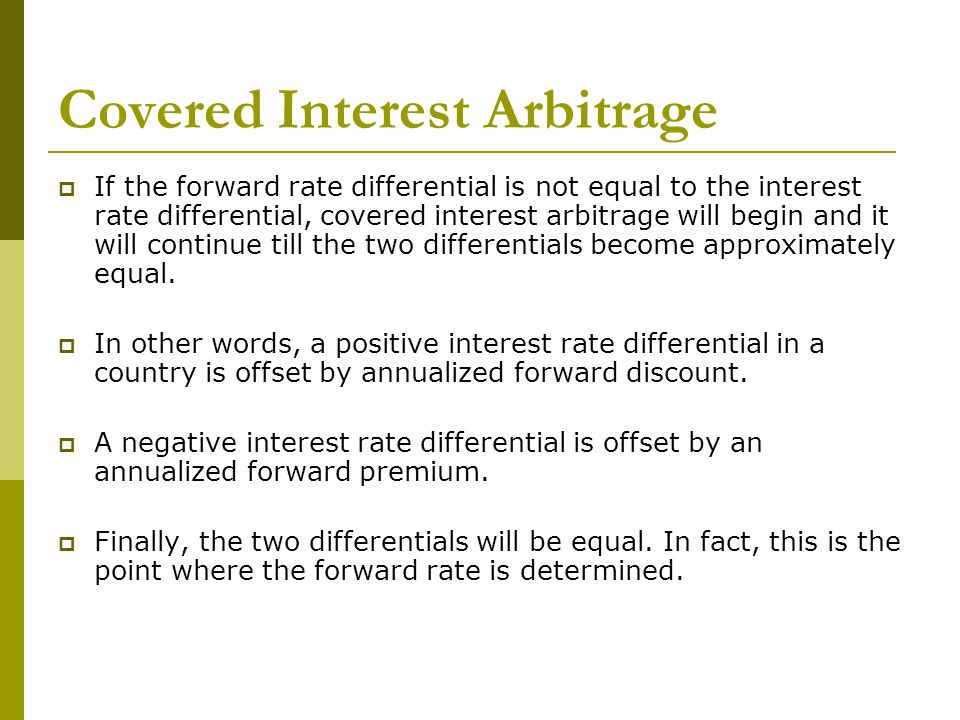 What is Interest Rate Parity?