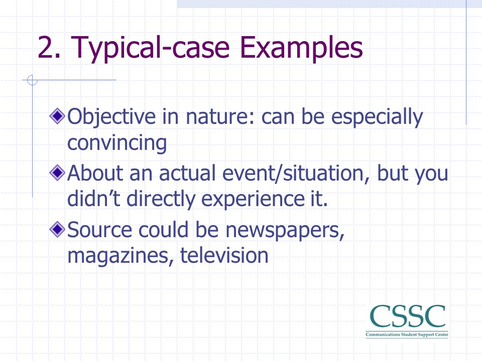 2. Typical-case Examples